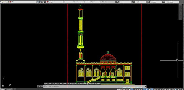 Download file Cad Masjid DWG gratis