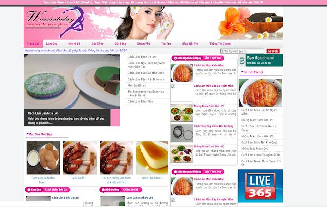 Template Blogspot Dạng Tin Tức Tạp Chí Kênh Phụ Nữ