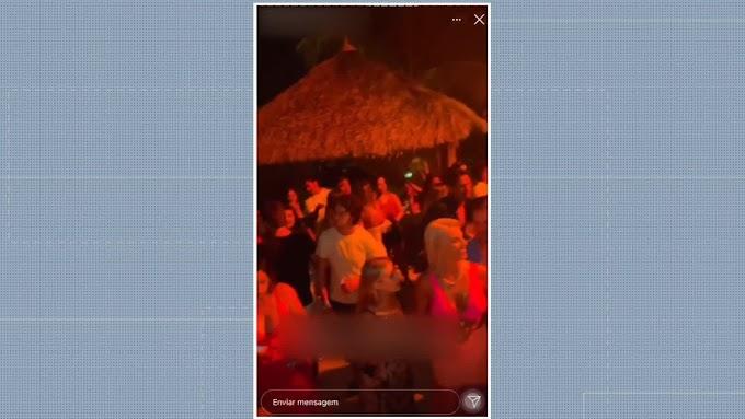 Festas na Praia dos Carneiros têm aglomerações, pessoas sem máscara e desrespeito às medidas de prevenção à Covid-19