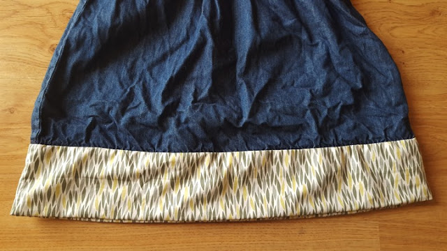 Easy DIY skirt refashion