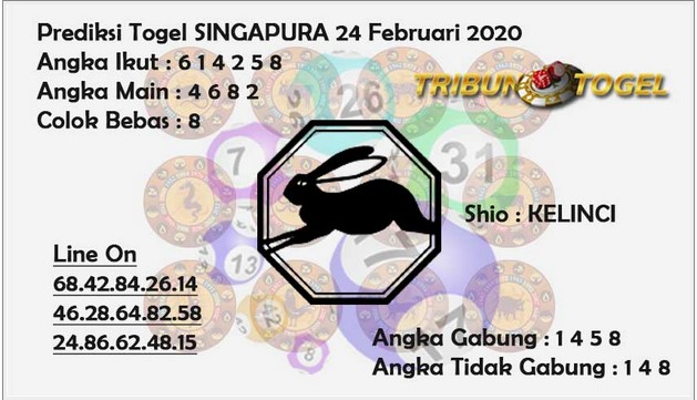 Prediksi Togel JP Singapura 24 Februari 2020 - Prediksi Tribun Togel