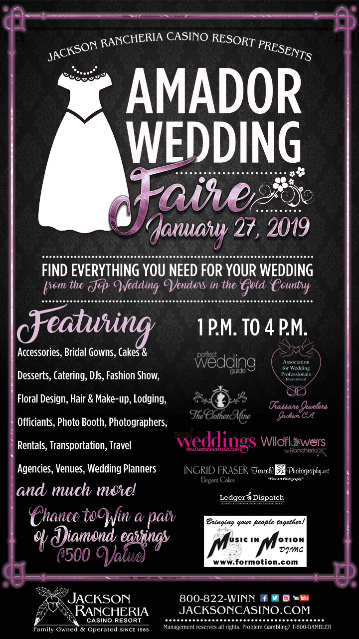 Amador Wedding Faire 2019 - Sun Jan 27