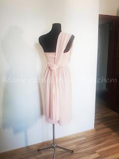 Sukienka na jedno ramię - tył