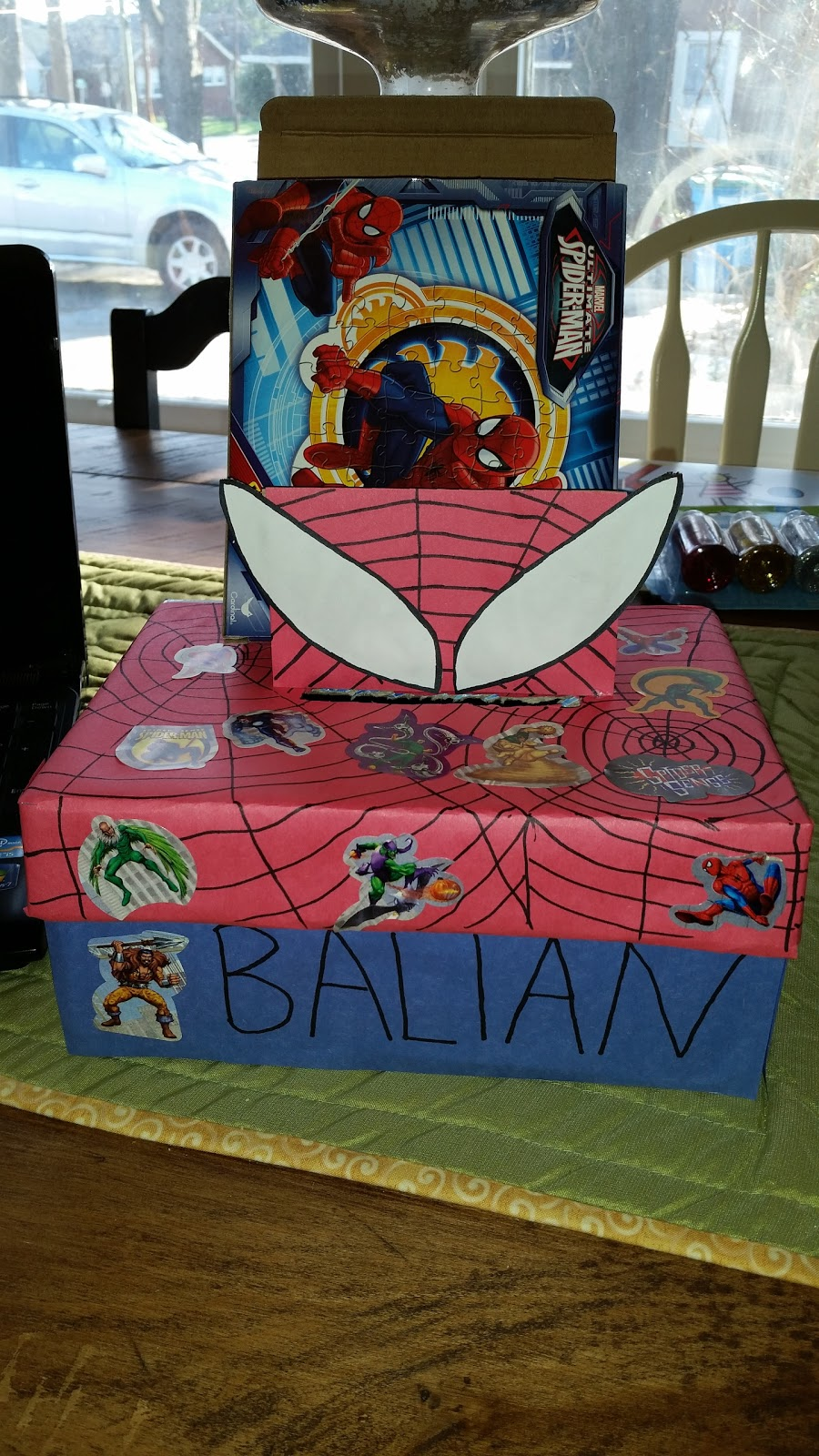 last minute spiderman valentine box mommy s block party