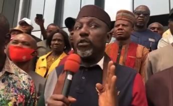 ''Don't take my calmness for granted''- Rochas Okorocha warns Governor Uzodinma. VIDEO