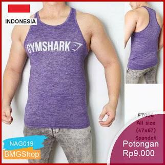 NAG019 Singlet Baju Fitnes Olahraga Sport Wear Tranning Murah Bmgshop
