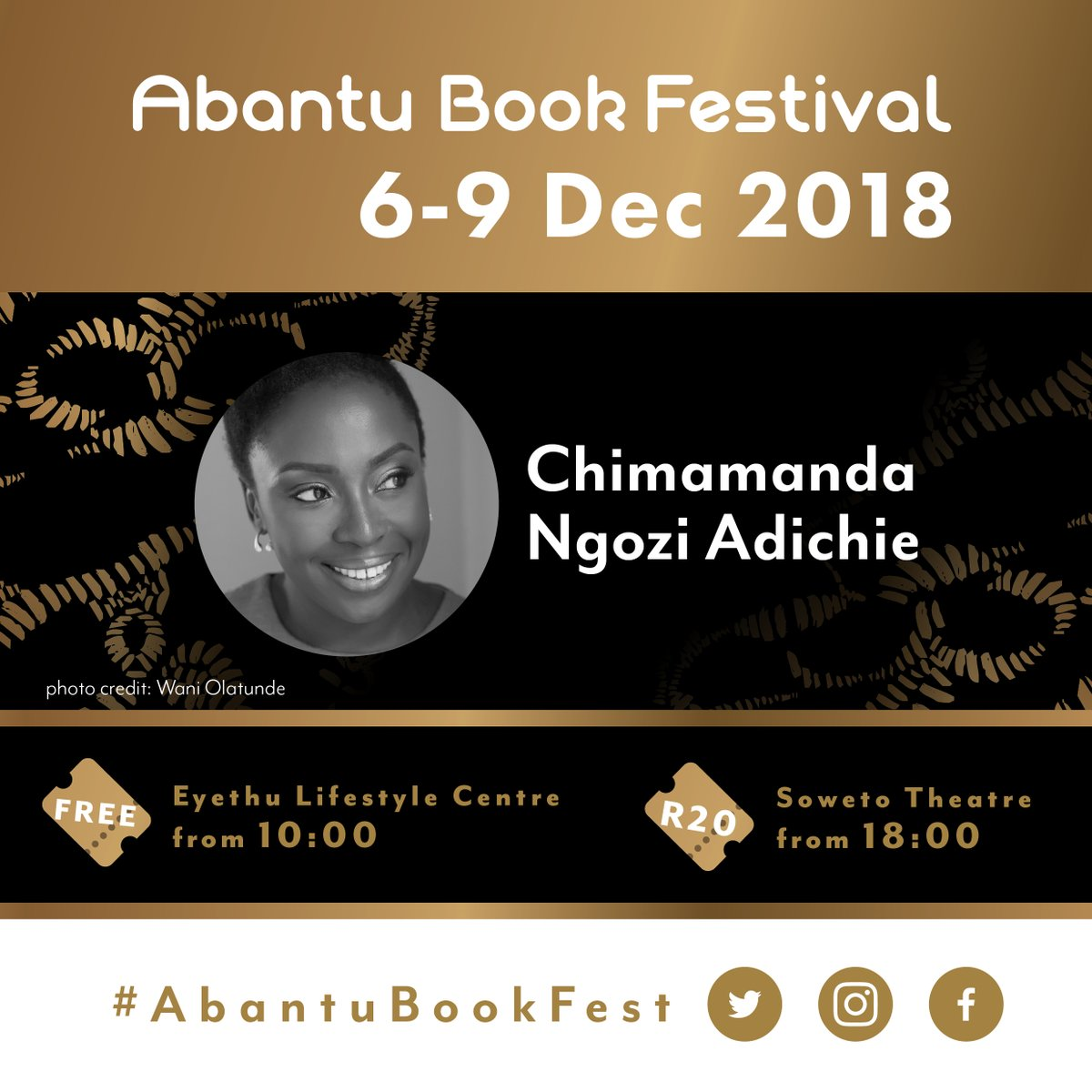The Annual Pilgrimage For Black Writers And Readers, Abantu Book Festival Is Back: Chimamanda Ngozi Adichie Set To Grace This Year's Edition