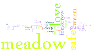 The Meadow Song Word Cloud - www.hungergameslessons.com