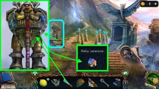 при помощи скребка собираем пигмент в игре затерянные земли 3