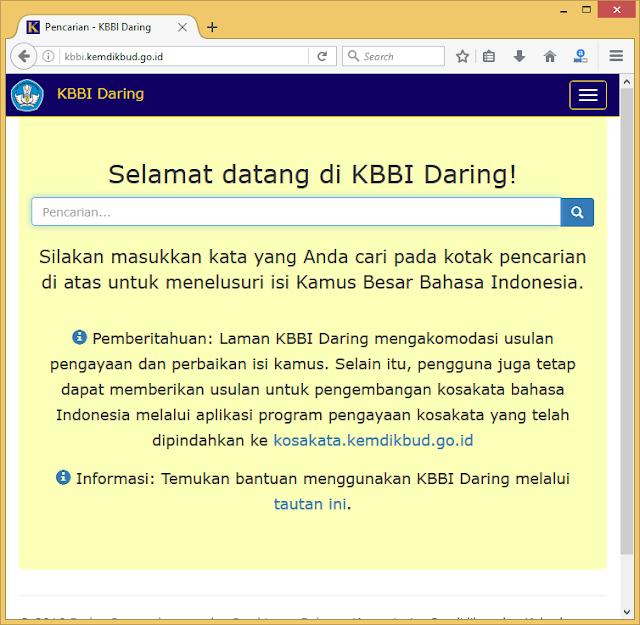 Cara Mudah Cek Kata di KBBI Daring Kemdikbud (KBBI Online Kemdikbud)