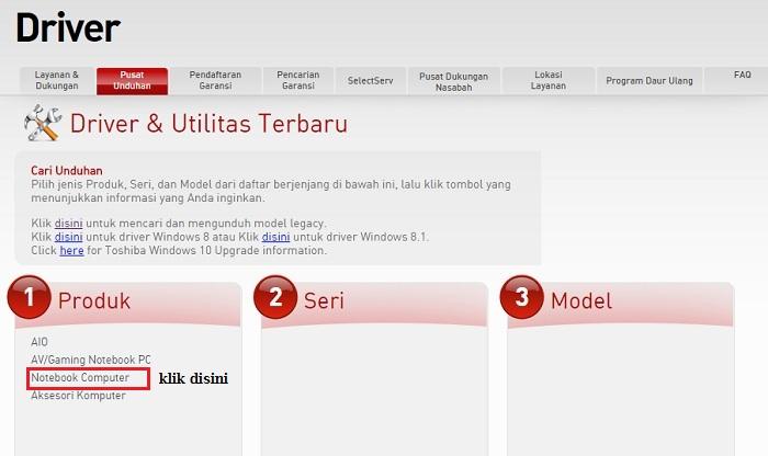 Cara Gampang Download Driver Toshiba Untuk Semua Type Laptop Toshiba Kios Laptop Malang