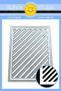 Sunny Studio Stamps: Frilly Frames Stripes 3-in-1 Mix and Match Low Profile Metal Cutting Dies