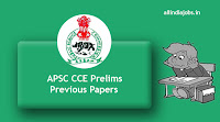 APSC CCE Prelims Previous Papers