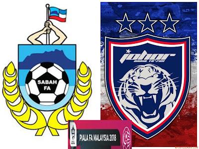 Live Streaming Sabah vs JDT FC Piala FA Malaysia 3 Mac 2018