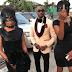 Bizarre video: Lagos big boy Pretty Mike leads 2 girls by DOG LEASH