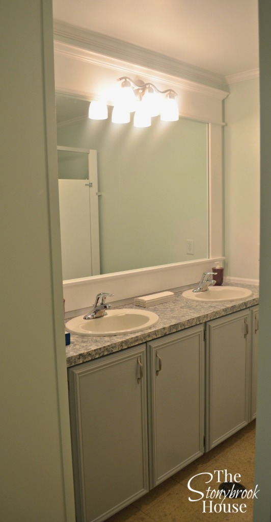 update bathroom mirror how to frame a bathroom mirror with no miter cuts 14888