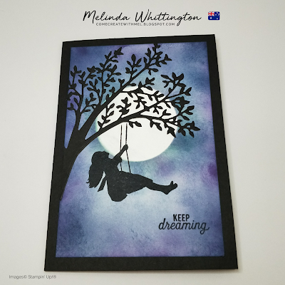 Stampin' Up! Silhouette Scenes Night Sky Card.