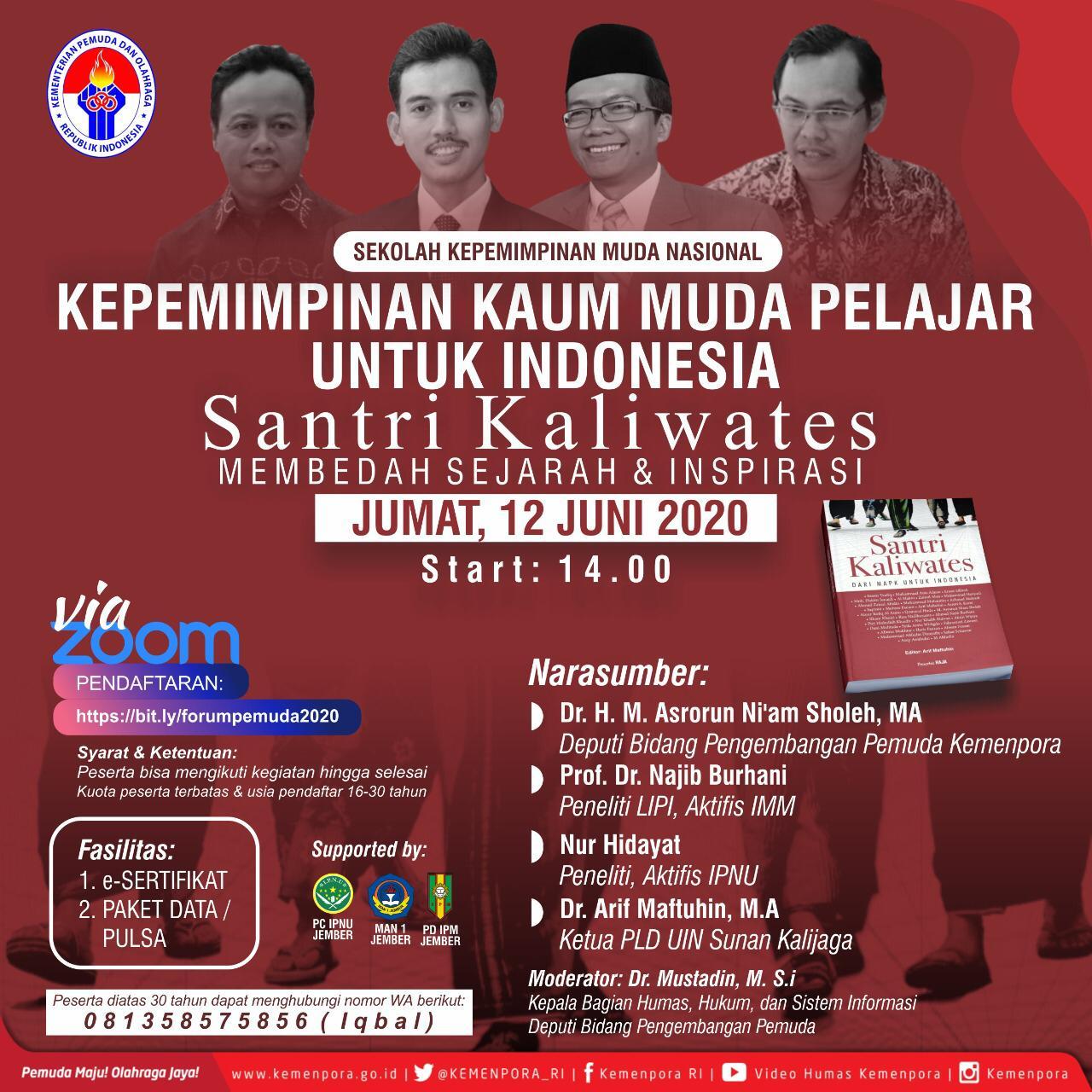 Kemenpora Menggelar Wabinar Forum Kepemudaan Untuk Indonesia Dimasa Pandemic Covid 19