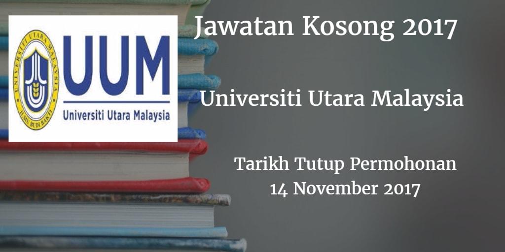 Jawatan Kosong UUM 14 November 2017