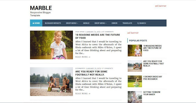 Marble - Template Blog Simple Sederhana Gratis