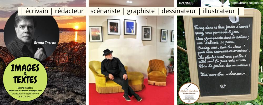 Bruno TASCON graphiste à VANNES, rédacteur communication, dessinateur, scénariste, MORBIHAN