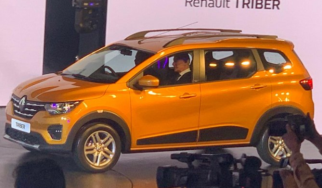 Renault showcase her 7 seater triber in specifically indien consumer.
