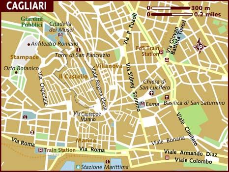 Cartina Geografica Di Cagliari.Mappa Della Citta Di Provincia Regionale Italia Mappa Politica Di Cagliari