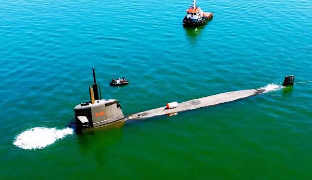 El submarino Riachuelo - S40 realizó otra importante prueba de mar en la bahía de Itacuruçá.