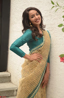 Tejaswi Madivada looks super cute in Saree at V care fund raising event COLORS ~  Exclusive 054.JPG