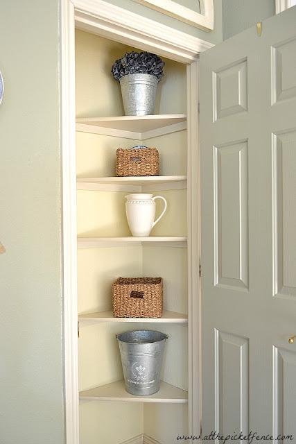 closet shelves, under stair closet