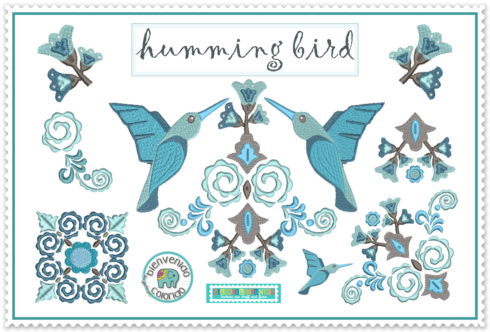 Stickdatei Hummingbirds