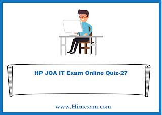 HP JOA IT Exam Online Quiz-27