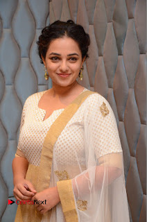 Actress Nithya Menen Pictures at 100 Days of Love Pre Release Press Meet  0097.JPG