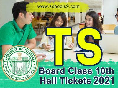 Telangana SSC 10th Class 2021 Exam Hall Tickets