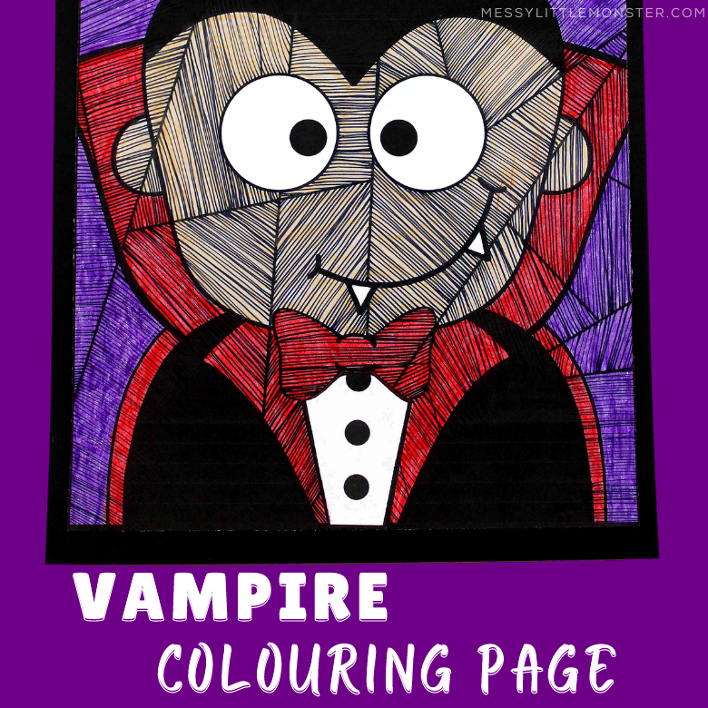 vampire colouring page