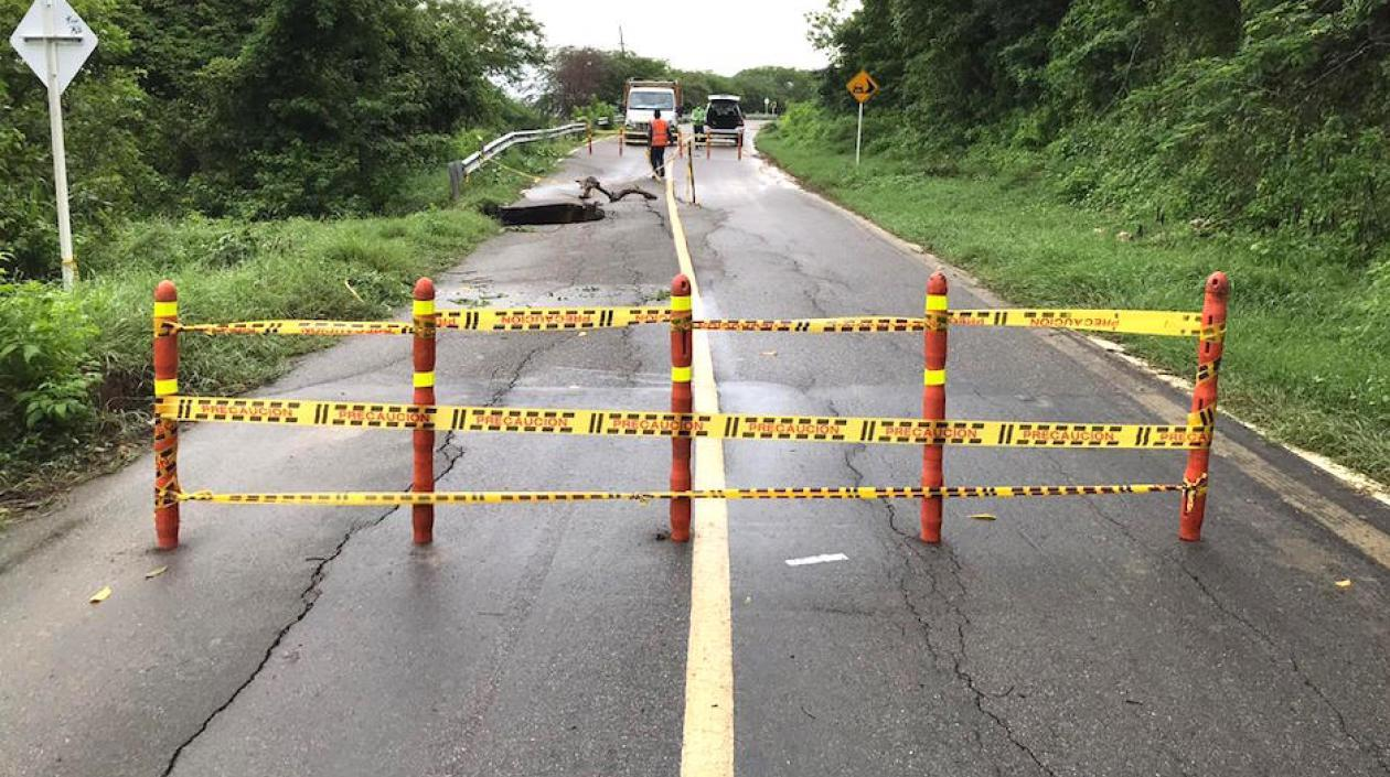Por socavación, Tránsito del Atlántico autorizó el cierre de la vía Juan de Acosta - Piojó