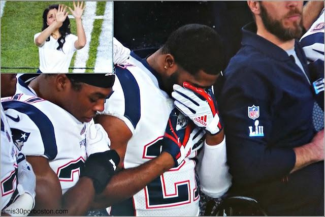 Super Bowl LII: Butler durante el Himno de Estados Unidos