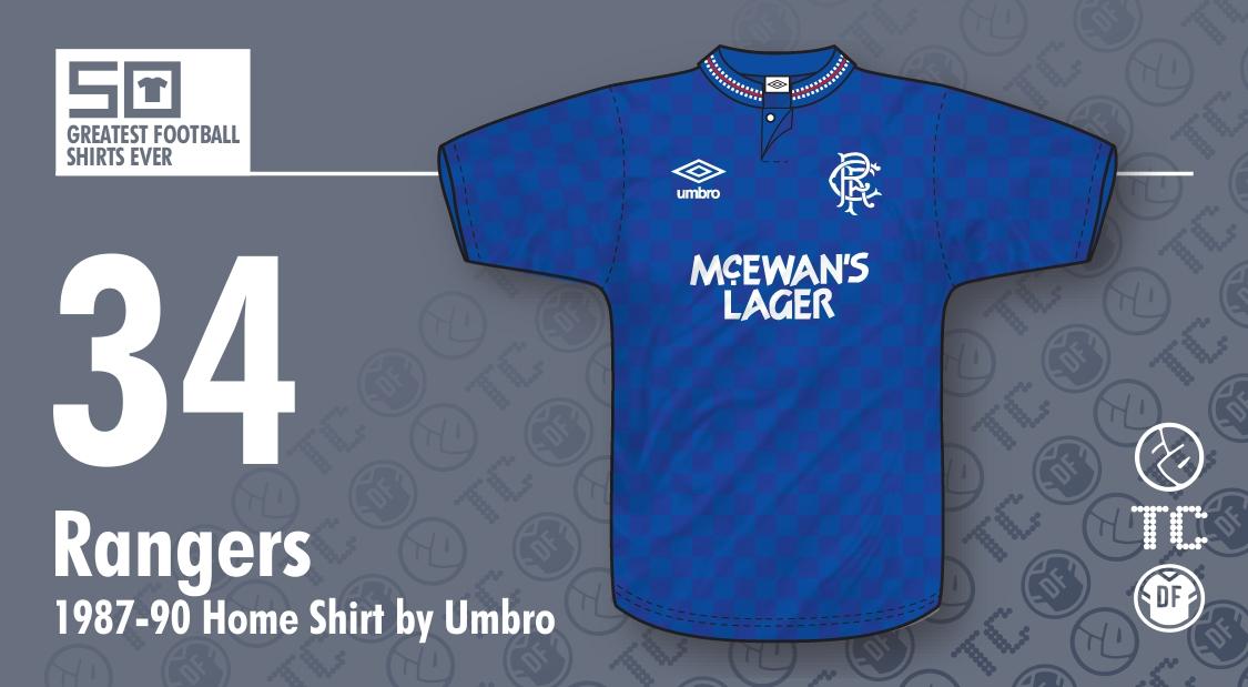 5f0d399945 50GFSE] #34 - Rangers 1987-90 Home Shirt by Umbro ~ The Football Attic
