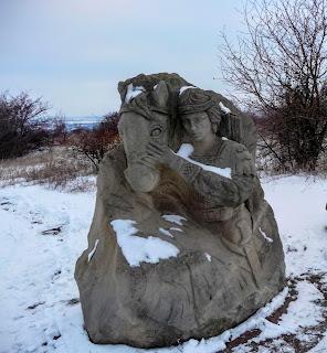 Смотровая площадка РЛП «Клебан-Бык». Скульптурные композиции