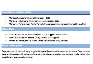 resume untuk temuduga