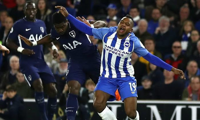 Cuplikan Gol Tottenham 1-1 Brighton   Liga Inggris Pekan 35