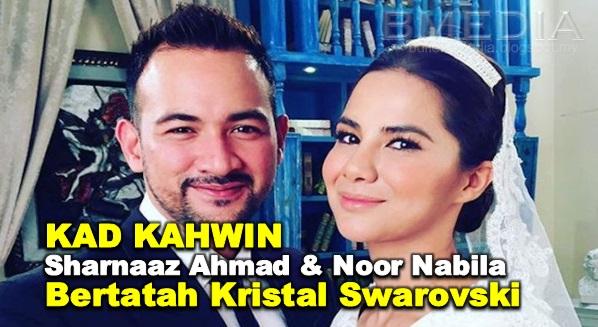 Kad Kahwin Sharnaaz Ahmad & Noor Nabila Bertatah Kristal Swarovski