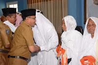 Penuh Haru, Wakil Walikota Sambut Kedatangan Jemaah Haji Kota Bima