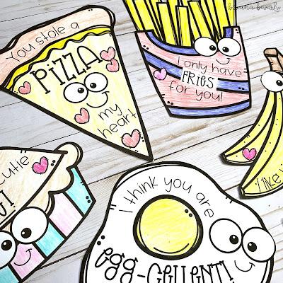 Food Pun Valentines