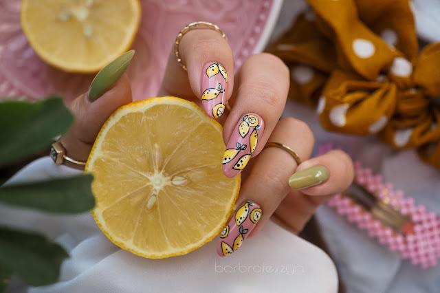 cytrynowe paznokcie