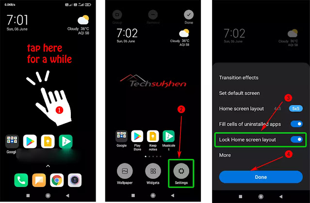 2 way to unlock home screen layout on samsung and another android device