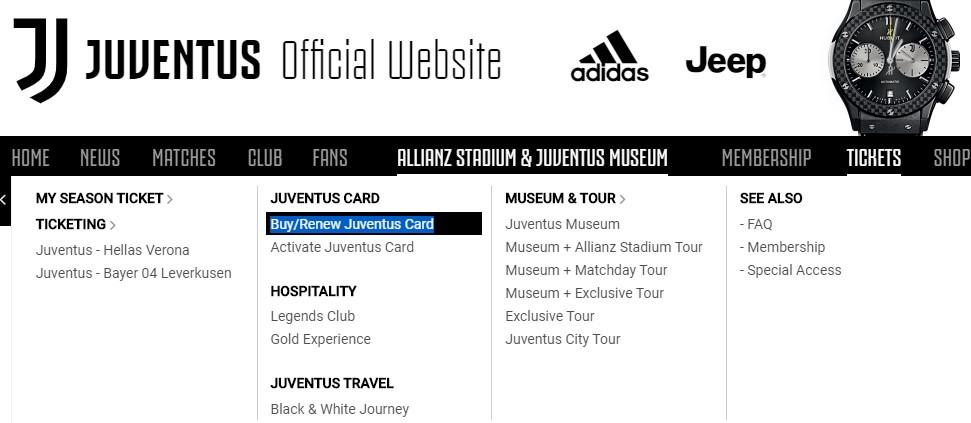 Где можно купить Juventus Card?