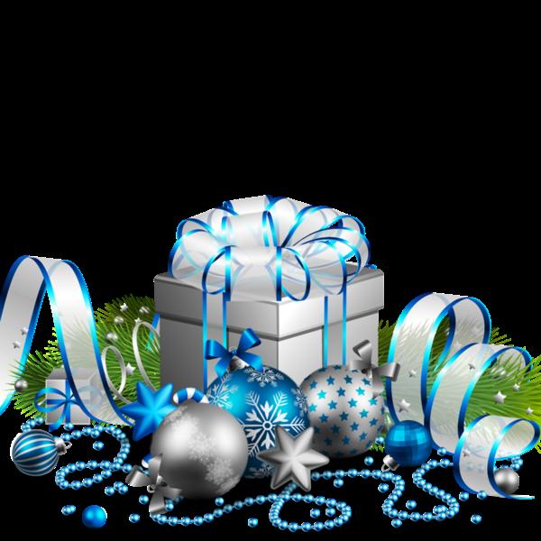 Christmas tree Christmas decoration, Christmas, blue, ribbon, festive Elements free png