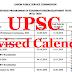 UPSC Revised Calendar 2020 pdf in English | Civil Services Exam Date Summary