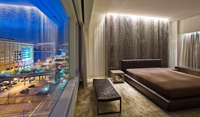 Photo of another bedroom in one of the modern New York penthouses